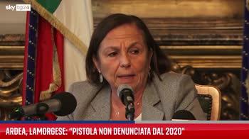 Ardea, Lamorgese: pistola non denunciata dal 2020