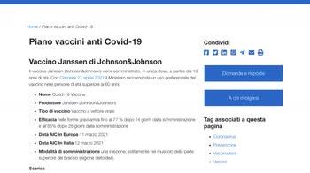 ERROR! Vaccino covid-19, per Janssen resta indicazione per over 60
