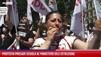 Roma, la protesta degli insegnanti precari. VIDEO