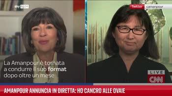 Amanpour annuncia in diretta: ho cancro alle ovaie