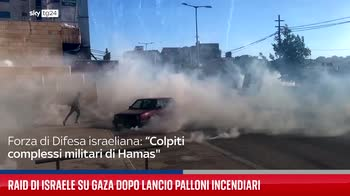 Raid di Israele su Gaza dopo lancio palloni incendiari
