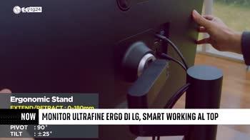 ++NOW Monitor UltraFine Ergo di LG, smart working al top