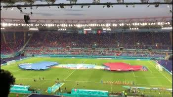 Italia-Svizzera, la cerimonia pre partita