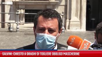 Salvini: chiesto a Draghi di togliere obbligo mascherine