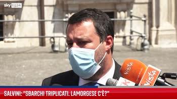 Salvini sui numerosi sbarchi di migranti a Lampedusa