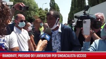 Novara, presidio lavoratori dopo la morte del sindacalista