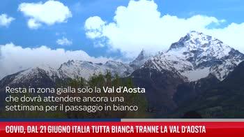 Covid, dal 21 giugno Italia tutta bianca tranne la Val d?Aosta