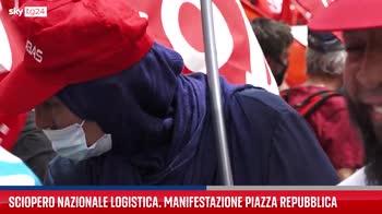 Roma, manifestazione lavoratori del settore della logistica