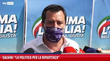 Roma, Salvini alla manifestazione della Lega Prima l'Italia