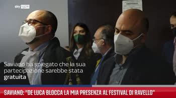 Saviano: ?De Luca blocca la mia presenza al Festival di Ravello?