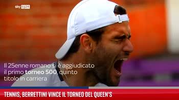 Tennis, Berrettini vince il torneo del Queen?s