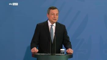 """Draghi: """"Con Germania cooperazione molto forte"""""""