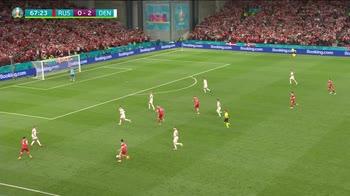Euro 2020, Russia-Danimarca 1-4: gol e highlights