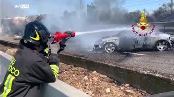 Incidente sull'A1, camion a fuoco tra Piacenza e Fiorenzuola