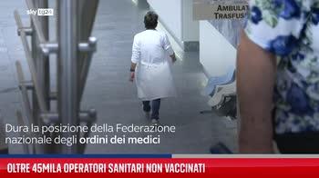 Oltre 45mila operatori sanitari non vaccinati