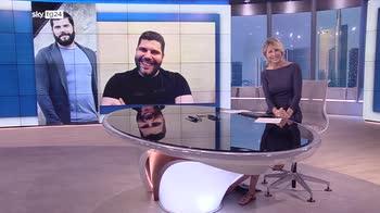 VIDEO Salvatore Esposito presenta ?Lo sciamano? a Sky tg24