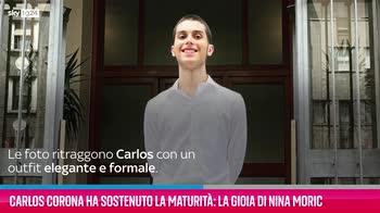 VIDEO Carlos Corona e la maturità: la gioia di Nina Moric
