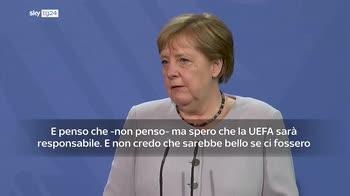 ERROR! Euro 2020, Merkel: Uefa si muova con responsabilit�