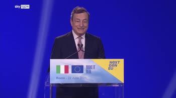 Draghi: questo � solo l'inizio. Obiettivo � spendere tutto in maniera onesta