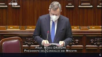 Consiglio Ue, l'intervento in Parlamento di Draghi