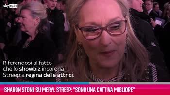 "VIDEO Sharon Stone su Meryl Streep: ""È sopravvalutata"""