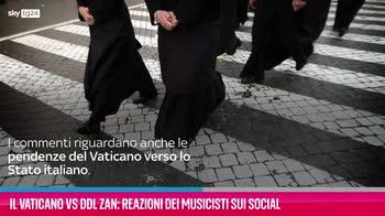 VIDEO Il Vaticano vs Ddl Zan: reazioni dei musicisti