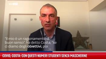 Covid, Costa: con questi numeri studenti senza mascherine