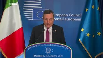 """Consiglio Ue, Draghi: """"Pandemia non � finita, non ne siamo fuori"""""""
