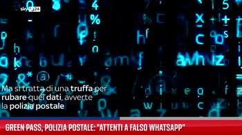 """Green pass, polizia postale: """"Attenti a falso WhatsApp?"""