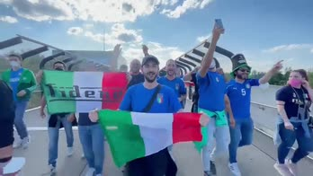 Italia-Belgio, primi tifosi azzurri all'Allianz Arena