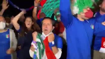 Italia-Belgio, la festa dei tifosi