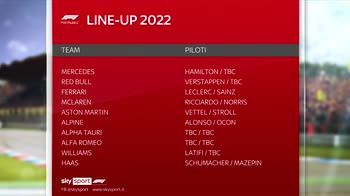 f1 canale 207 lineup 2022 ore 14.39 a 14.41