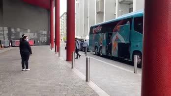 Italia-Spagna, l'arrivo degli Azzurri in hotel