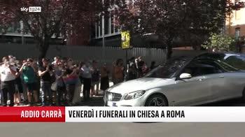 Addio a Raffaella Carr�, il corteo per le vie di Roma
