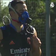 real madrid allenamenti maschere