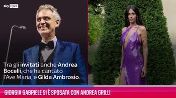 VIDEO Giorgia Gabriele si è sposata con Andrea Grilli