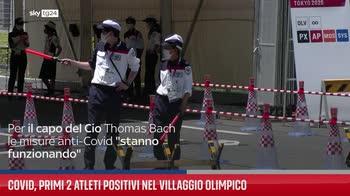 Covid, primi 2 atleti positivi nel Villaggio Olimpico