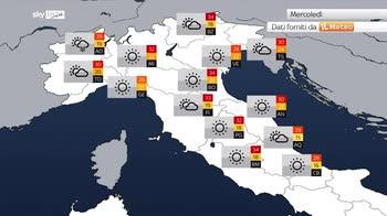 Previsioni meteo: perturbazione lascia l'Italia
