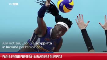 PAOLA EGONU PORTER� LA BANDIERA OLIMPICA