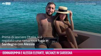 VIDEO Donnarumma e Alessia Elefante, vacanze in Sardegna