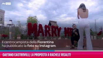 VIDEO Gaetano Castrovilli, la proposta a Rachele Risaliti