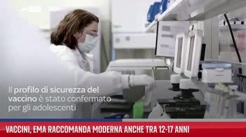 Vaccini, Ema raccomanda Moderna anche tra 12-17 anni