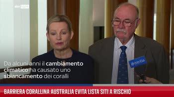 Barriera Corallina Australia evita lista siti a rischio