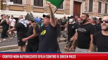 Roma, corteo contro l'obbligo del Green Pass. VIDEO