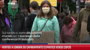 Vertice a Londra su cambiamento climatico verso Cop26