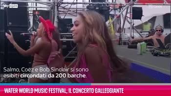VIDEO Water world music festival, il concerto galleggiante