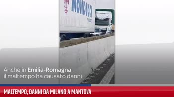 Maltempo, danni da Milano a Mantova