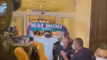 Arnautovic, le immagini del suo arrivo a Bologna