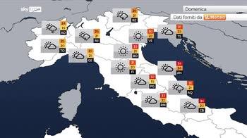 Previsioni meteo: nel weekend fronte temporalesco