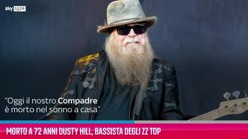 VIDEO Morto a 72 anni Dusty Hill, bassista degli ZZ Top